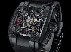 Rebellion 540 Magnum Tourbillon Watch – A Race Car For Your Wrist - Limited to just 10 pieces worldwide. Constructed from some 490 components magnum tourbillon, montr, black watch, tourbillon watch, fiber case, rebellion 540, 540 magnum, timepiec, carbon fiber