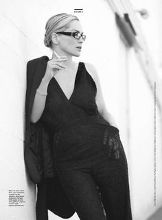 black style, sharon stone, fashion photo, celeb, amica buro, beauti, editori fashion, stones, smoke