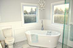 beautifullyon diy, master ensuit, bathroom makeovers, dream, bathtub, bathroom idea, picture frames, master baths, wall design