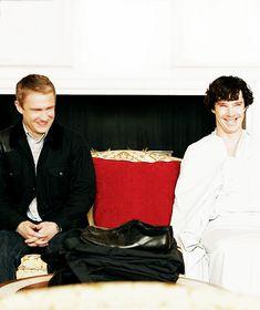 When Sherlock isn't wearing any pants XD