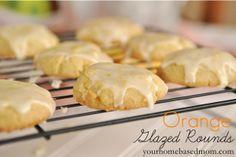 Orange Glazed Rounds @yourhomebasedmom.com  #cookies,#orange,#recipes