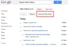 How to remove your Google web history. Get it done before March 1. Article explains why.