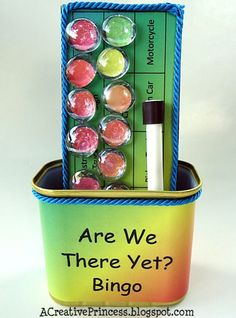 This would be great for roadtrips!http://acreativeprincess.blogspot.com/2011/07/are-we-there-yet-bingo.html