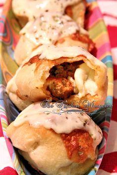 Cheesy Meatball Stuffed Pizza Puffs - The Kitchen Whisperer