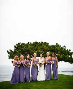 Amsale Bridesmaid Dresses lavend bridesmaid, purple bridesmaids dress, lavender bridesmaids dresses, the knot, shades of purple, purple bridesmaid dresses, pebble beach, beach weddings, lavender bridesmaid dress
