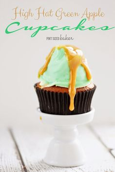 Green Apple High Hat Cupcakes are perfect for an easy fall treat!