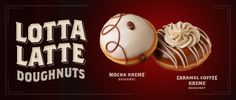 Share with a friend and invite them to try the new #LottaLatteDoughnuts! Yum!