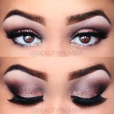 Love the white eyeliner on pink eye shadow  #makeup  #eyeshadow #latest #newest #popular #trendy