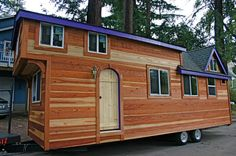 A 355 square feet tiny house on wheels in Felton, California. Designed by Molecule Tiny Homes. - Tiny House Swoon