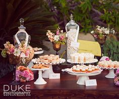 """Guests help themselves to treats at the """"miniature"""" dessert bar."""