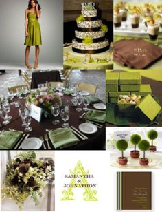 Brown and Green Wedding Colors