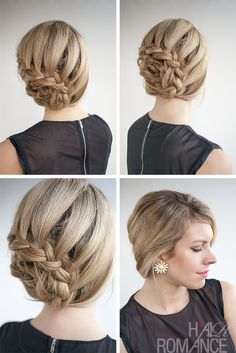 Hair Romance - curved braided updo hairstyle tutorial