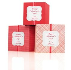 #MarthaStewartHomeOffice labels provide an easy and beautiful way to personalize your Valentine's Day favors.