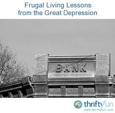 This is a guide about frugal living lessons from the Great Depression. There are many useful lessons that can be learned from how people lived during the Great Depression.