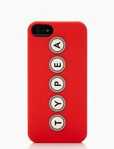 iPhone 5 Case by Kate Spade New York. Type A and proud. ;)