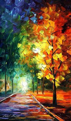 'Melting Beauty' Painting by Leonid Afremov.  To purchase or see other artwork by Afremov, visit the link below.