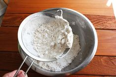 How to make your own cake flour using all purpose flour and cornstarch - and lots of sifting!