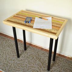 iLoveToCreate Blog: DIY Vintage Yardstick Table