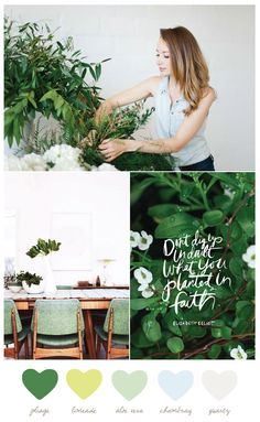 Color Palette: Foliage and Chambray
