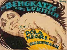 The Wildcat (Ernst Lubitsch, 1921), a romantic-comedy farce featuring the sultry silent actress Pola Negri and includes a very unique approach to set design and cinematography. Find this at 791.43743 BER