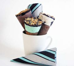 DIY icecream drum sticks... You can make them in any flavor you like.