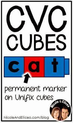 teacher tips, cvc cube