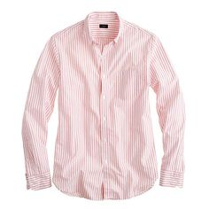 J. Crew Secret Wash end-on-end shirt in vintage barn stripe -   Another classic !