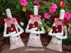 FIVE ANGELS by FEITO POR JANAROCHA BLOG- www.artjanarocha.blogspo, via Flickr