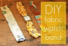 DIY fabric watch bands - i like the one where she added lace :)