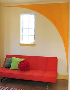 Adorable DIY Yarn Art Bring Creativity Décor at Home: Yarn Wall Art Arch ~ anahitafurniture.com Art