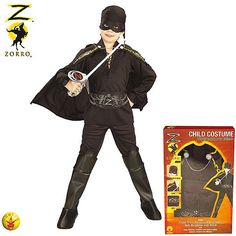 Disfraz de El Zorro #disfraces #infantil #carnaval #zorro