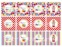 SWEET SHOPPE cupcake toppers  You PRINT  by PrettyPartyCreations, $5.50