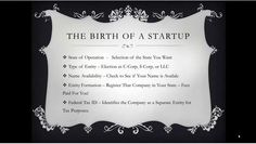 Starting a Company!