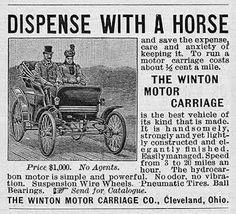 Early car advert.