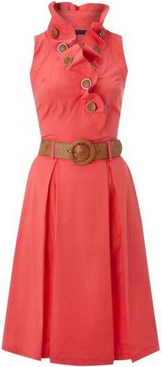 Vivi Boutique ENGLAND  Belted Aline Dress