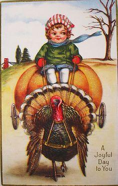 Love the look of a vintage post card! vintage postcards, flower arrang, thanksgiving turkey, vintag postcard, thanksgiving cards, post card, floral arrangements, vintage greeting cards, vintage cards