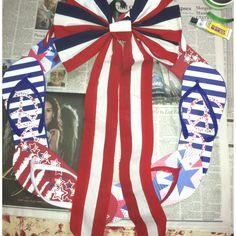 USA flip flop wreath