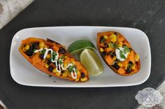 Tex Mex Sweet Potato Skins #superbowl #appetizers
