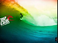 Rip Curl surfing