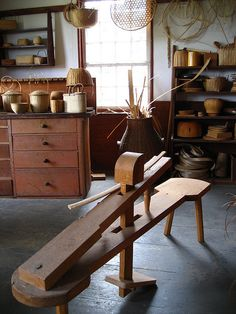 Basket making shop, Hancock Shaker Village.  This restoration village is only fifteen minutes from the Inn at Silver Maple Farm.