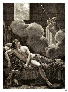 virgil aeneid, pius aenea, vergil aeneid, mytholog illustr, paint men, art 12