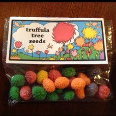Truffula tree seeds (nerds jelly beans). I wish I had found this last week!!!