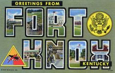 Greetings from Fort Knox, Kentucky - Large Letter Postcard by Shook Photos, via Flickr