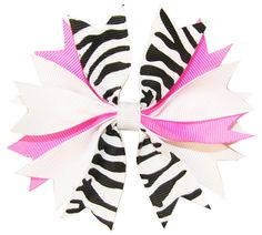 Free tutorial--ribbon spike hair bows