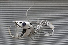 #Sculptures made from old hubcaps by Ptolemy Elrington, UK