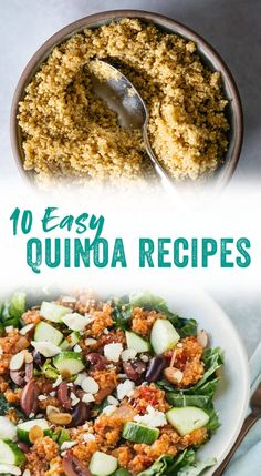 Check out our favorite delicious and easy quinoa recipes, from enchiladas to quinoa salad recipes to vegan chili. You're sure to find a favorite!