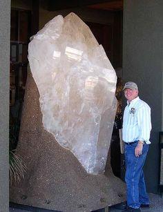 Giant natural quartz crystal.