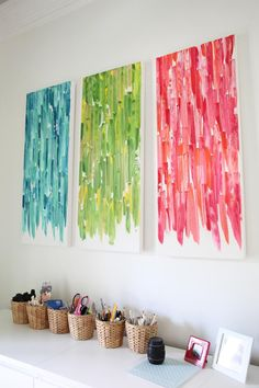 Easy DIY art - Threesome Art by www.bowerpowerblog.com