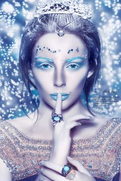Ice princess b   Ice Princess Halloween Makeup