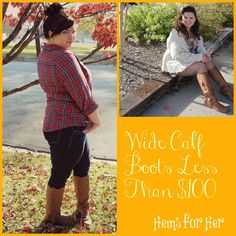 Hems for Her Trendy Plus Size Fashion for Women: Wide Calf Boots Under $100